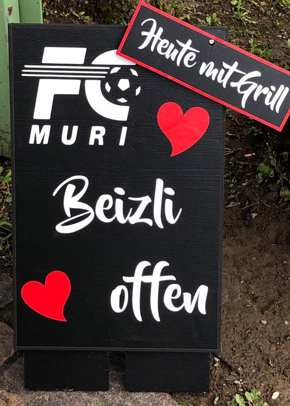 Beizli_FC-Muri_Tafel